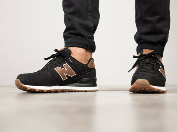 Men's  New Balance  Canvas ML574TXA  Lifestyles Black/brown  Shoes  NIB