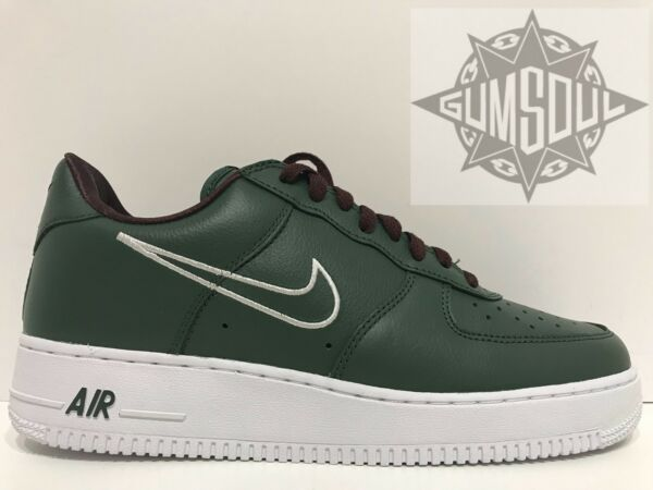 NIKE AIR FORCE 1 LOW RETRO HONG KONG DEEP  FOREST GREEN WHITE 845053 300 sz 9.5