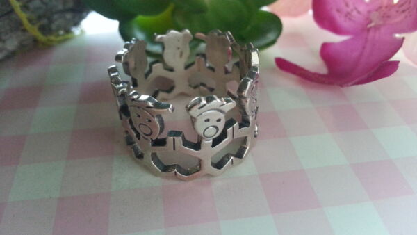 Beautiful New Babies School Solid Cut Ring 925 Sterling Silver *Size 10.25 *C743