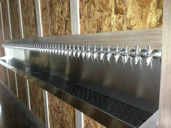 60 Faucet Tap Draft Beer Drip Pan Tray Trap - Stainless Steel - 180