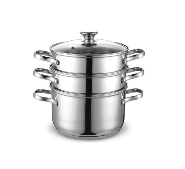 Cook N Home NC 00313 Double Boiler Steamer 4Qt Silver $90.75