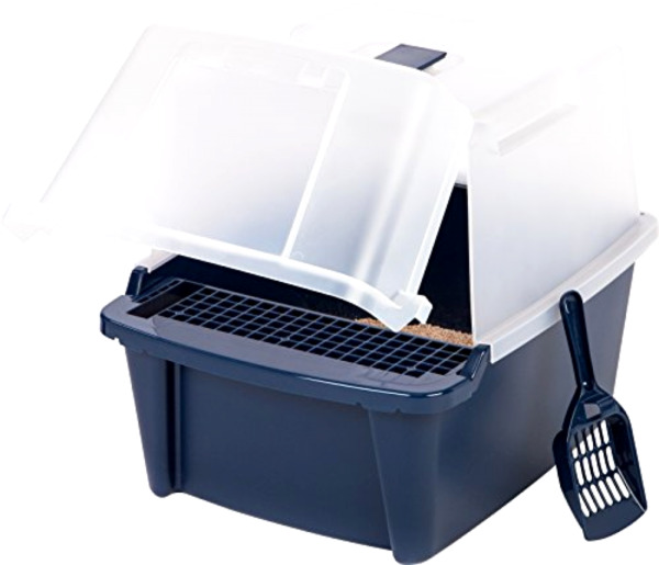 Covered Cat Litter Box With Lid Scoop Cleaning Grate Kit Cats Pet Box Durable .