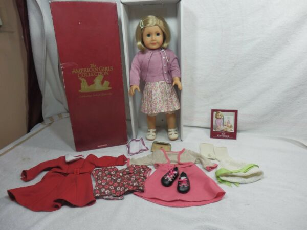 Pleasant American Girl Doll Kit + Extra Outfit . Box