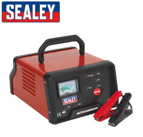 Sealey AUTOCHARGE10S 10A Auto High Frequency Battery Charger 6v  12v