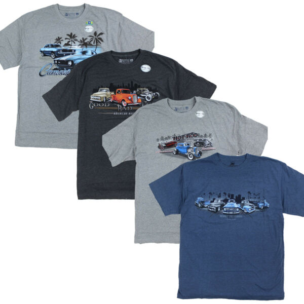 Mens Classic Cars Graphic Short Sleeve Tee Hot Rod Camaro Chevy Truck Funny $14.99
