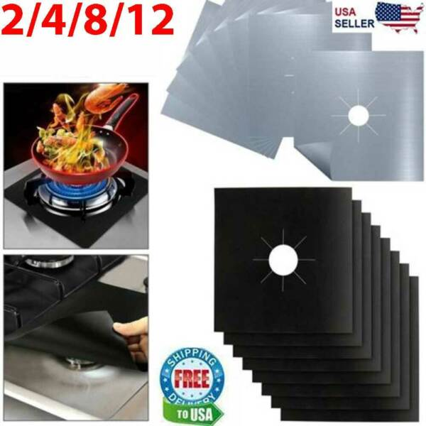Gas Range Stove Top Burner Cover Protector Reusable Liner Clean Cook Non stick $6.59