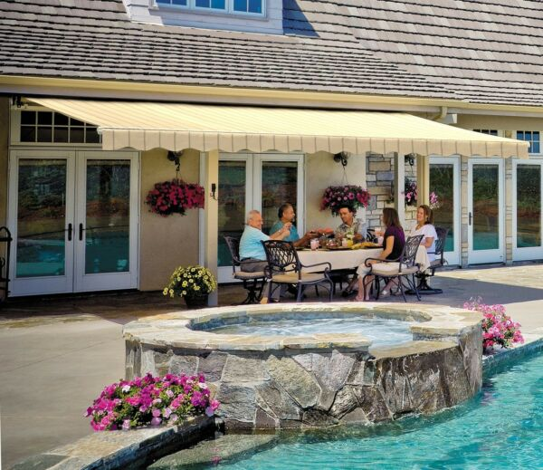 19' SunSetter Motorized Awning in Acrylic Fabric  by SunSetter Awnings