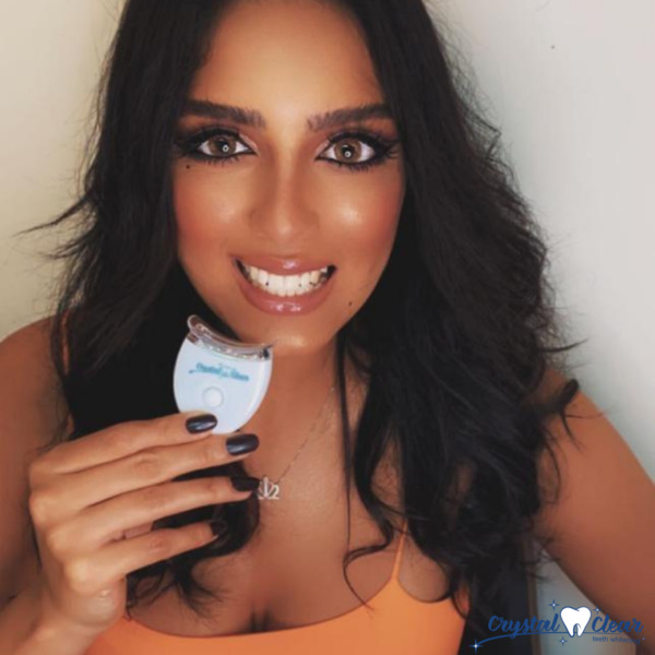 Crystal Clear Teeth Whitening Kit made in USA. COMPATIBLE with Snow