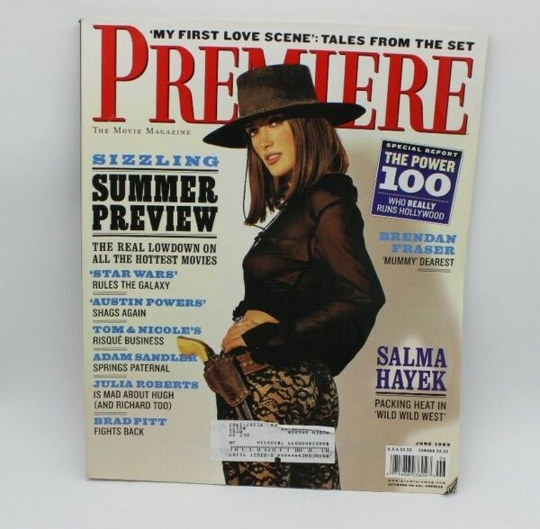 1999 PREMIERE SALMA HAYEK JUNE WILD WILD WEST Very Cool Movie Magazine
