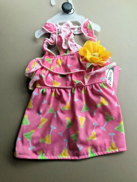 WAG amp; BONE quot;TROPICAL MARGARITAquot; Strappey Summer Dress Puppy Dog medium $16.50