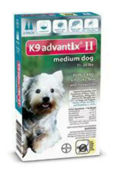 Bayer K9 Advantix II 11 20 lbs MD dog two pack EPA product No expiration $28.99