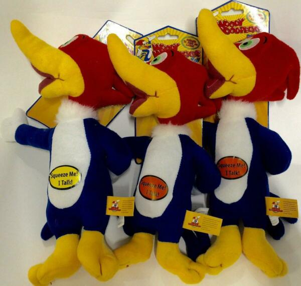 Multipet Woody Woodpecker Plush Dog Toy Laughs When squeezed 11