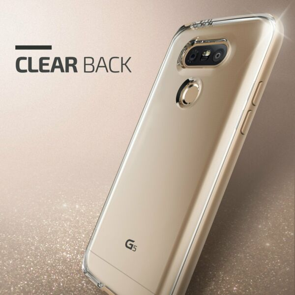 VRS Design Crystal Bumper Series Clear Slim Fit With Military For LG G5 Case