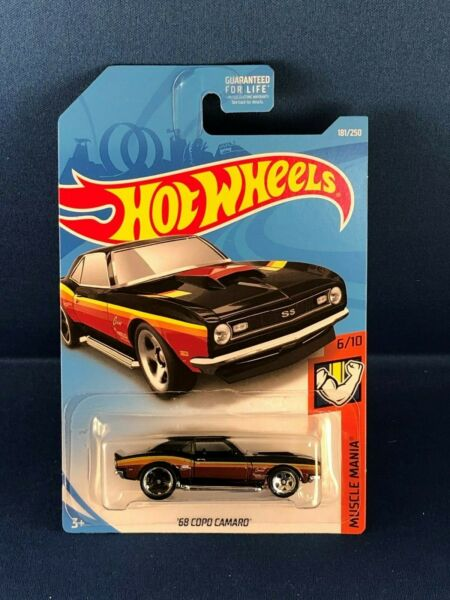 HOT WHEELS 2019 MUSCLE MANIA '68 COPO CAMARO CHEVY CHEVROLET BLACK