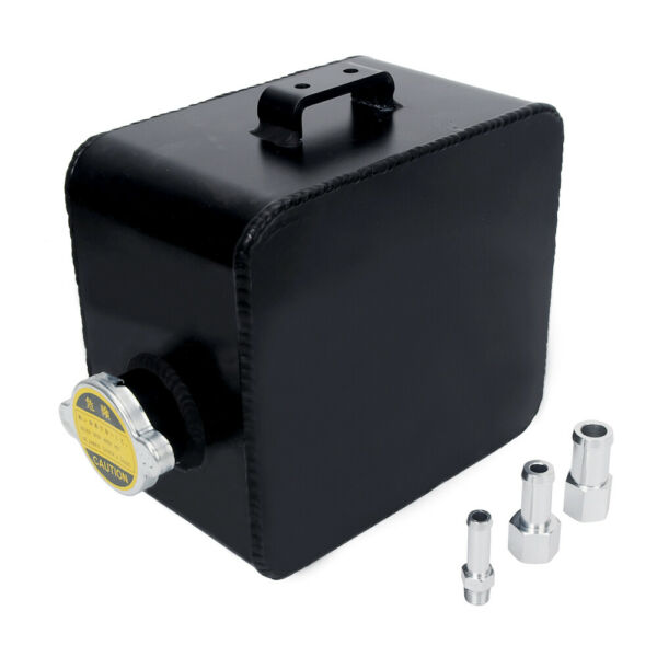 2.5 Coolant Water Expansion Tank Bottle Header Aluminium Alloy Universal Black $27.99