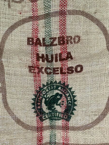 COLOMBIA BURLAP SISALCOFFEESACK BAG 28X37 COLORFUL CRAFTS DESIGN WALL ART