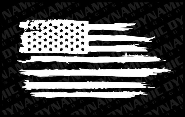 USA Flag Distressed decal sticker vinyl graphic American car truck window jeep A