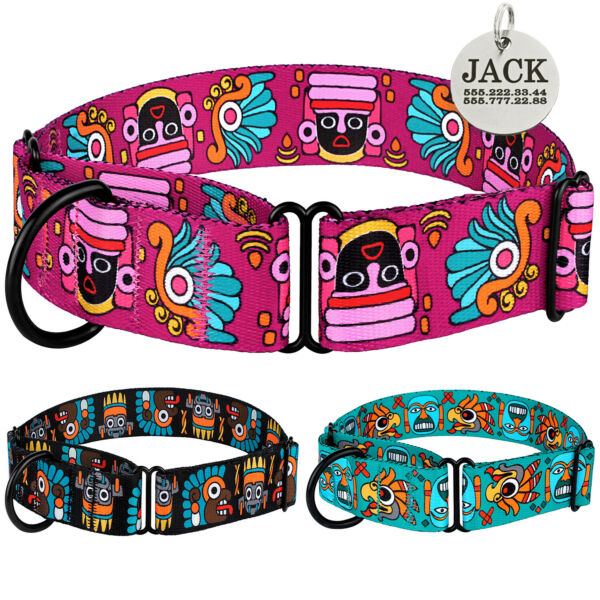 Martingale Collars for Dogs Choke Pet Collar Personalised Tag Whippet Greyhound GBP 11.99
