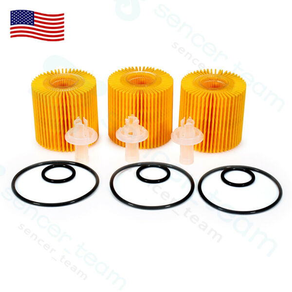 GENUINE FOR TOYOTA LEXUS SCION OIL FILTER SET OF (3) OEM 04152-YZZA1