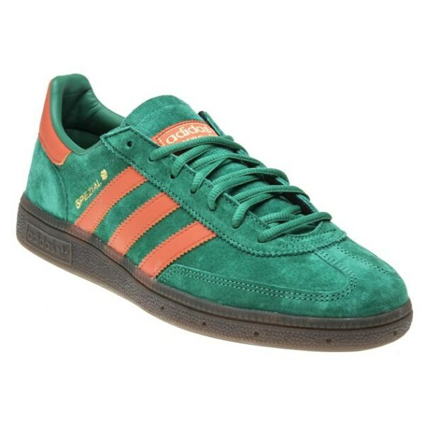 New MENS ADIDAS GREEN HANDBALL SPEZIAL NUBUCK Sneakers Retro