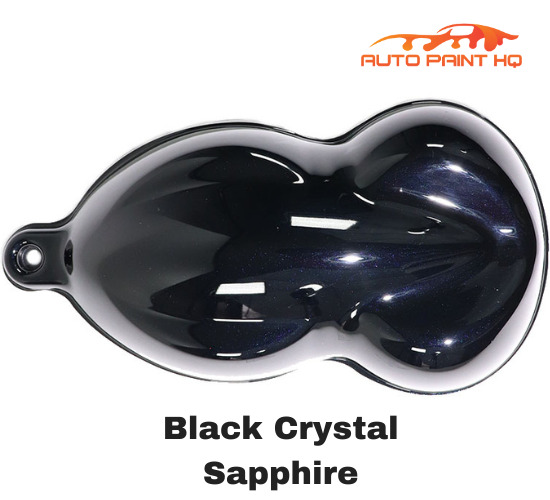 Black Crystal Sapphire Gallon Single Stage Acrylic Car Vehicle Auto Paint Kit