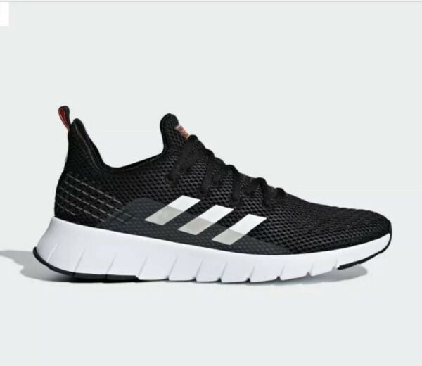 Men's Adidas Asweego F37038 Running Shoes Sneakers Size 8.5 New In Box Black/Red