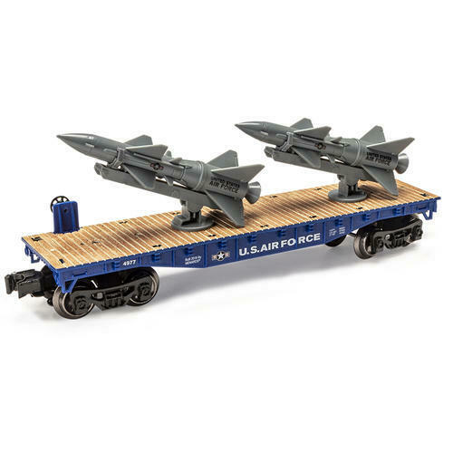 Menards O Gauge Air Force Flatcar with Rockets US Military USA MTH LIONEL $29.99