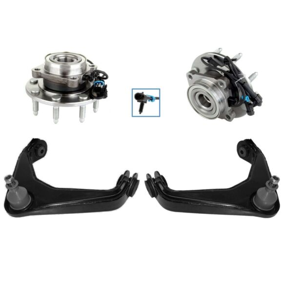 New 4pc Front Wheel Hub and Bearing Assembly Kit for Chevy GMC 4x4 ABS - 8-Lug