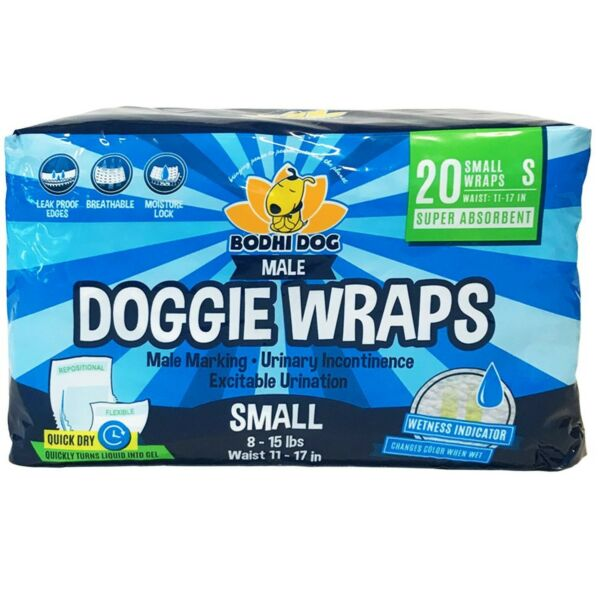 Disposable Dog Male Wraps 20 Premium Quality Adjustable Pet Diapers with Mo... $15.99