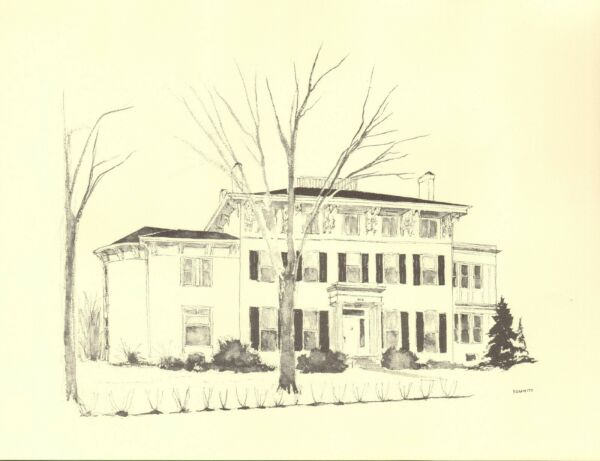 Milton Kemnitz Ann Arbor Buildings Print Mansion at 815 street number