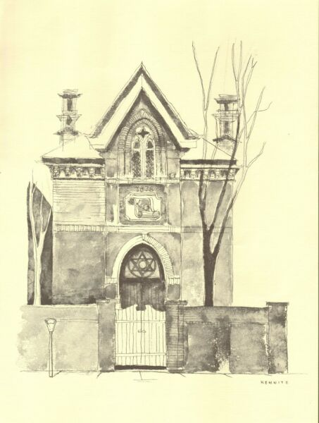 Milton Kemnitz Ann Arbor Buildings Print A Jewish synagogue from 1878