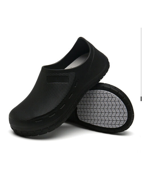 New Safety Non Slip Shoes Cushion Chef Shoes Safety Water Kitchen Bathroom Black $27.99