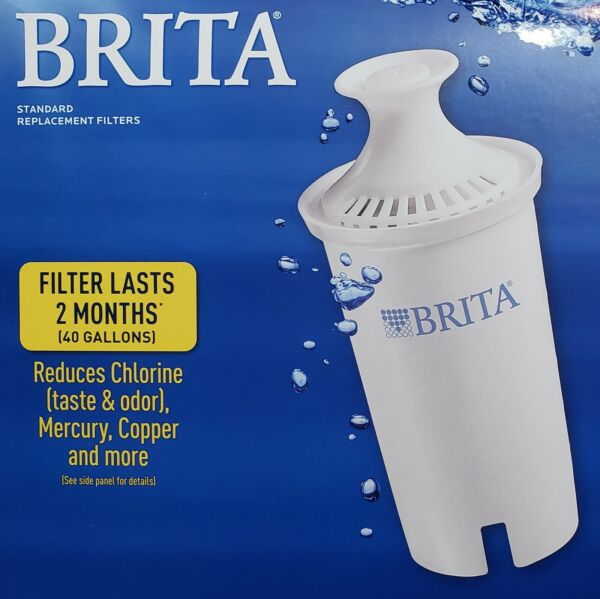 Brita Pitcher Advanced Water Filter Replacement Refills 40 Gallon Each #OB03