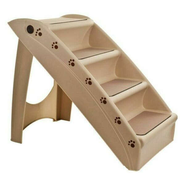 Foldable Pet Stairs Dog Cat up to 100 Pounds 4 Steps 19 Inch High 15 Inch Wide $37.99