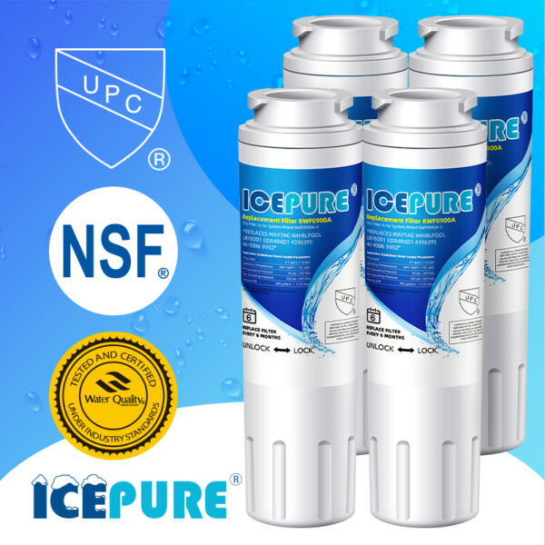 4 PACK PurePlus UKF8001 RFC0900A UKF8001P 4396395 Comparable Water Filter