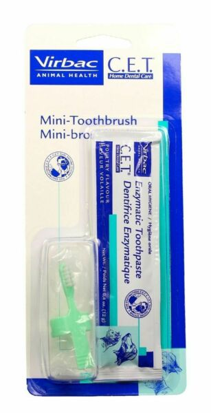 C.E.T. Pet Mini Toothbrush amp; Poultry Enzymatic Toothpaste Combo Cat amp; Dog Dental $10.89