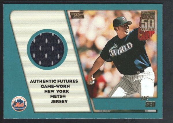 JAE SEO 2001 TOPPS TRADED ROOKIES #TTRSS GAME JERSEY NEW YORK METS SP
