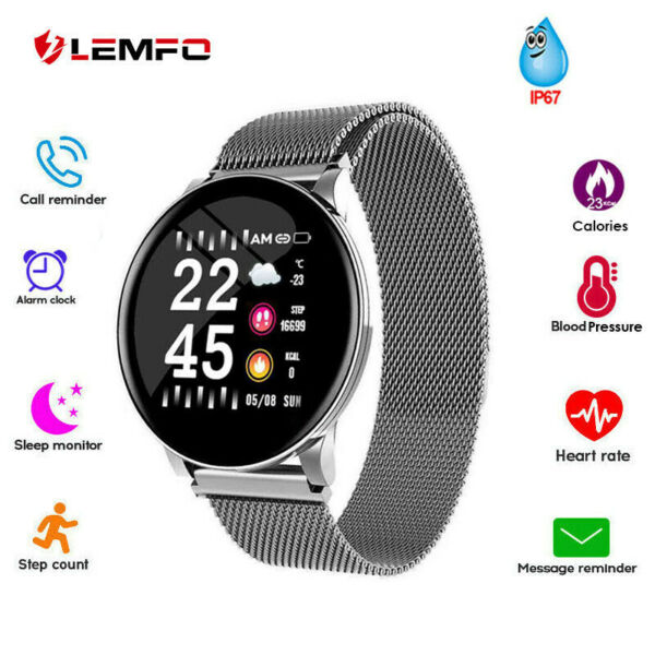 LEMFO Smart Watch Sports Bracelet Fitness Tracker With Heart Rate Blood Pressure