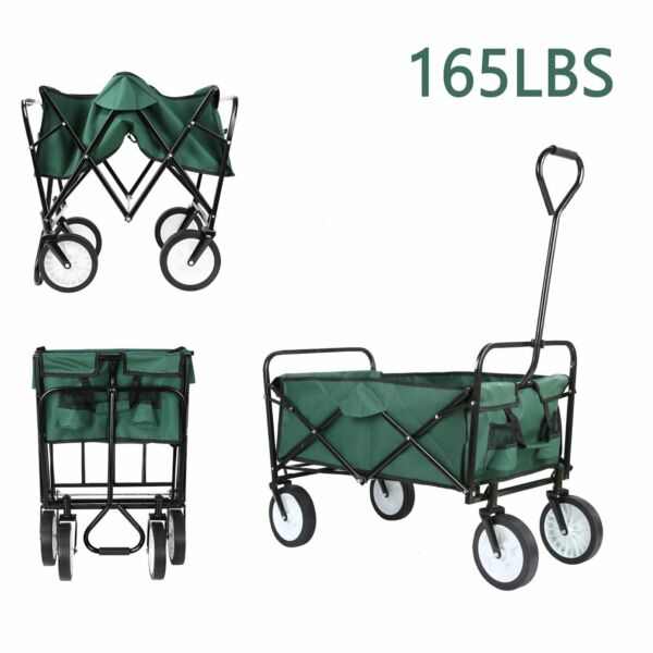 Collapsible Folding Wagon Beach Camp Garden Outdoor Utility Cart Toy Sport Buggy