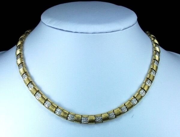 RAREST GOLD AND DIAMONDS NECKLACE AND RING SET BY ROBERTO COIN -LAYAWAY WELCOME!