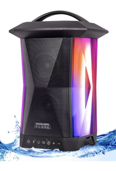Nuvelon FLARE Portable Bluetooth Lantern Speaker with Free Shipping and warranty
