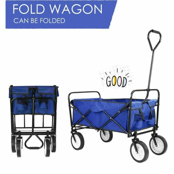 Collapsible Folding Wagon Shopping Cart Utility Garden Buggy Camp Sports Cart US