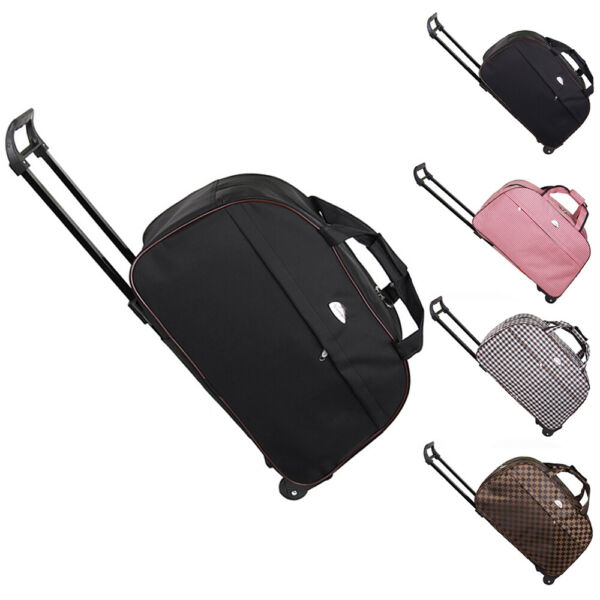 Duffle Bag 24quot; Rolling Wheeled Trolley Bag Tote Carry On Luggage Travel Suitcase $19.90