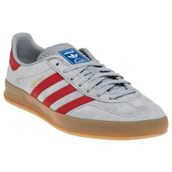 New MENS ADIDAS GRAY GAZELLE INDOOR NUBUCK Sneakers Retro