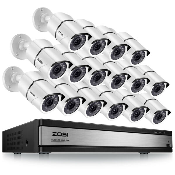 ZOSI 16CH 1080N DVR Outdoor IR Night Vision Outdoor Camera CCTV Security System