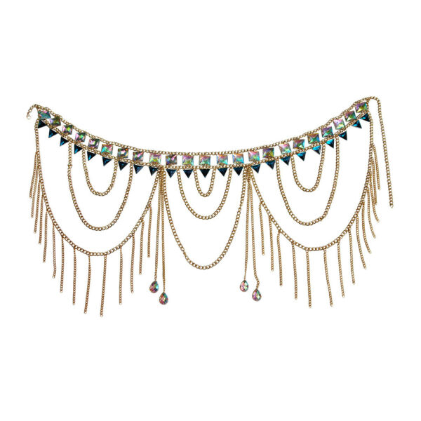 Sexy Crystal Tassel Waist Chain Body Chain Summer Beach Belly Accessories