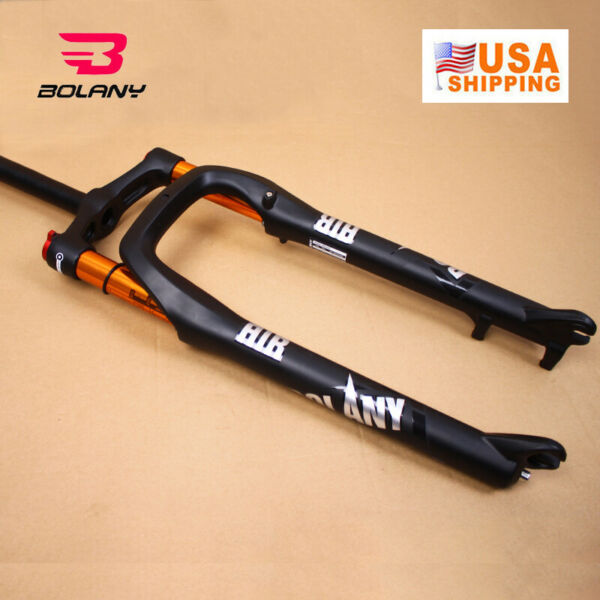 BOLANY 26*4.0quot; Fat Bike Air Suspension Fork 120mm MTB Beach Snow Bicycle 1 1 8quot; $135.89