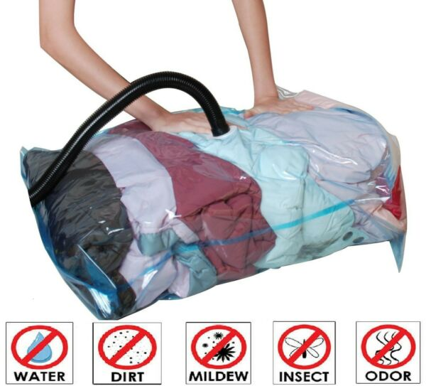 10 Pack: X6 Jumbo XL Large Thick Vacuum Space Saver Storage Bag X4 Travel Bags $21.85