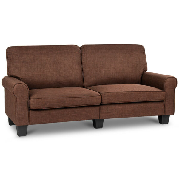 Sofa Couch Loveseat Fabric Upholstered Curved Armrest Home Living Room Furniture $259.99