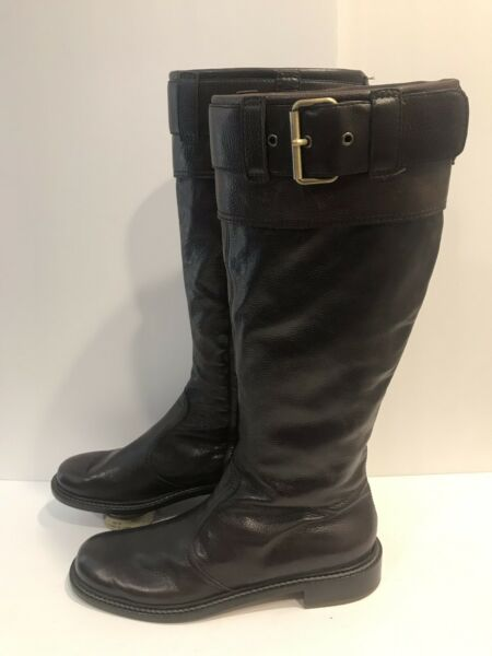 Moschino Boots CHEAPANDCHIC WOMEN Brown Leather Boots Size 10M $127.46